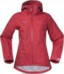 Bergans Letto Lady Jacket Rot | Größe XS | Damen Regenjacke