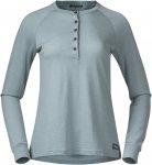 Bergans Lysebu Wool W Henley Blau | Damen T-Shirt