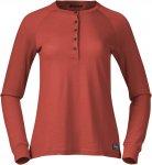 Bergans Lysebu Wool W Henley Orange | Damen T-Shirt