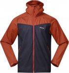 Bergans Microlight M Jacket Colorblock / Blau / Orange | Herren Windbreaker