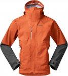 Bergans Rabot 365 3L M Jacket Colorblock / Grau / Orange | Herren Windbreaker