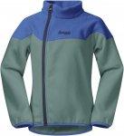 Bergans Ruffen Fleece Kids Jacket Colorblock / Blau / Grün | Größe 86 |  Frei