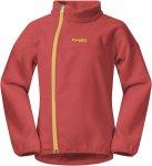 Bergans Ruffen Fleece Kids Jacket Rot | Größe 128 |  Freizeitjacke