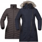 Bergans Sagene 3in1 Lady Coat Blau / Braun | Größe M | Damen Freizeitmantel