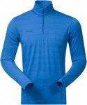Bergans Soleie Half Zip Blau, Male Merino Oberteil, L