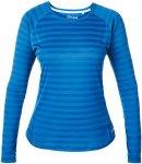 Berghaus Womens Tech Tee Stripe Baselayer Blau-Gestreift, M, Damen Langarm-Shirt