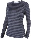 Berghaus Womens Tech Tee Stripe Baselayer Blau-Gestreift, XXL, Damen Langarm-Shi