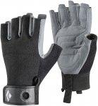 Black Diamond Crag Half-Finger Grau / Schwarz | Größe XL |  Fingerhandschuh