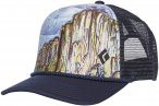 Black Diamond M Flat Bill Trucker Hat Bunt | Größe One Size | Herren Kopfbedec