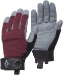 Black Diamond W Crag Gloves Grau / Rot | Damen Fingerhandschuh