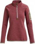 Burton W AK Turbine Quarter Zip Rot | Größe M | Damen Langarm-Shirt