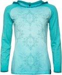 Chillaz Bergamo Ornament Longsleeve Blau, Female Langarm-Shirt, 42