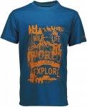 CMP BOY T-Shirt Piquet Blau, Male 110 -Farbe Zaffiro, 110