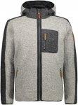 CMP M Jacket FIX Hood Wooltech Grau | Größe 48 | Herren Isolationsjacke