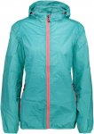 CMP W FIX Hood Jacket Checkered Blau | Größe 34 | Damen Regenjacke