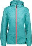 CMP W FIX Hood Jacket Checkered Blau | Größe 44 | Damen Regenjacke