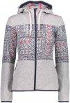 CMP W FIX Hood Jacket Knitted Norwegian | Größe 36,38,40,42,44,46 | Damen Frei