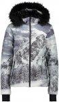 CMP W Jacket FIX Hood ECO Fur Grau / Weiß | Größe 36 | Damen Isolationsjacke