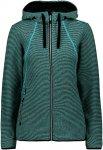 CMP W Jacket FIX Hood Knitted Blau   Größe 42   Damen Isolationsjacke