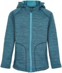 Color Kids Kids Fleece Melange Jacket With Hood Blau | Größe 98 |  Freizeitjac