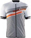 Craft M Reel Graphic Jersey Herren | Weiß / Orange | M | +S,M