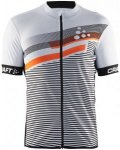 Craft M Reel Graphic Jersey Herren | Weiß / Orange | S | +S,M