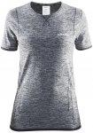 Craft W Active Comfort RN Short-Sleeve Grau / Schwarz | Größe XL | Damen T-Shi
