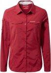Craghoppers W Nosilife Adventure Langarm Bluse Rot | Größe 36 - 10 | Damen Lan