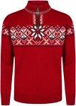 Dale Of Norway M Geiranger Sweater Rot | Herren Freizeitpullover