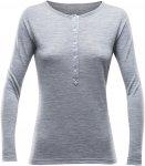 Devold Hessa Woman Button Shirt Grau | Größe XL | Damen T-Shirt