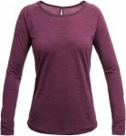 Devold Juvet Woman Shirt Lila/Violett, Female Merino Langarm-Shirt, L