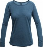 Devold Juvet Woman Shirt Blau, Female Merino Langarm-Shirt, XS