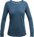 Devold Juvet Woman Shirt Blau, Female Merino Langarm-Shirt, S