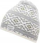 Devold ONA Beanie Knit Grau / Weiß | Größe One Size |  Kopfbedeckung