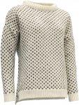 Devold Originals Nordsjo Woman Sweater Split Seam Beige | Damen Freizeitpullover