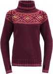 Devold Originals ONA Woman Round Sweater Rot   Damen Freizeitpullover