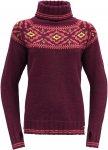 Devold Originals ONA Woman Round Sweater Rot | Damen Freizeitpullover