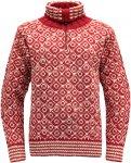 Devold Originals Svalbard Sweater Zip Neck Rot    Freizeitpullover