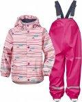 Didriksons Kids Slaskeman Printed Set Pink, 110, Kinder Freizeitjacke ▶ %SALE