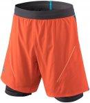 Dynafit M Alpine Pro 2in1 Shorts Colorblock / Orange / Schwarz | Herren