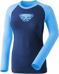 Dynafit W Speed Dryarn L/S Tee Colorblock / Blau | Größe 40 | Damen T-Shirt