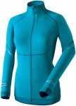 Dynafit Womens Ultra Longsleeve Full Zip Blau, 36, Damen Langarm-Shirt
