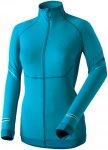 Dynafit Womens Ultra Longsleeve Full Zip Blau, 42, Damen Langarm-Shirt
