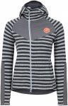 Edelrid W Creek Fleece Jacket Gestreift / Grau / Schwarz | Größe XS - 34 | Dam