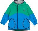 Finkid Aarre Colorblock / Blau / Grün | Größe 130 - 140 | Kinder Regenjacke
