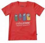 Fjällräven Kids Sleeping Foxes T-Shirt Rot | Größe 146 | Kinder Kurzarm-Shir