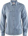 Fjällräven M Abisko Cool Shirt Long-Sleeve Kariert / Blau | Herren Hemd