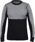 Fjällräven M Bergtagen Woolmesh Sweater Colorblock / Grau / Schwarz | Herren U