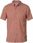 Fjällräven M High Coast Shirt Short-Sleeve Kariert / Orange / Rot | Herren Hem