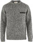 Fjällräven M Lada Round Neck Sweater Grau | Größe XS | Herren Freizeitpullov